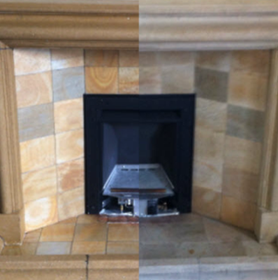 stone fireplace restoration