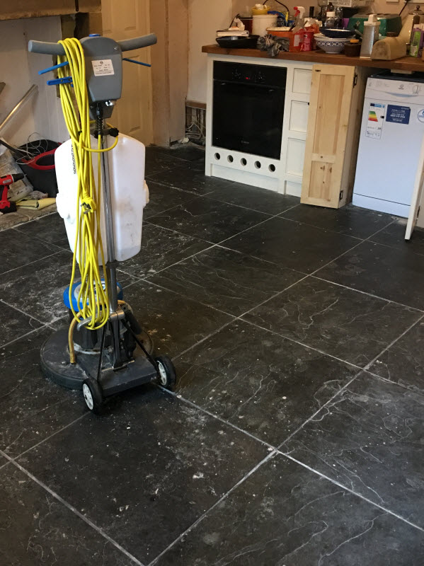 tiled floor cleaning